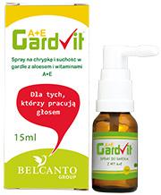 Gardvit spray na suche gardło z witaminami A+E i aloesem  opakowanie